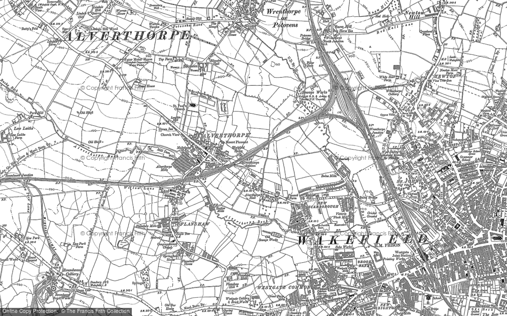 Old Map of Alverthorpe, 1890 - 1892 in 1890