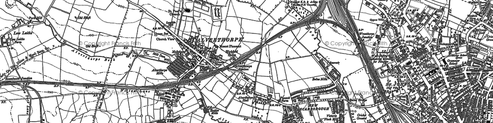 Old map of Alverthorpe in 1890