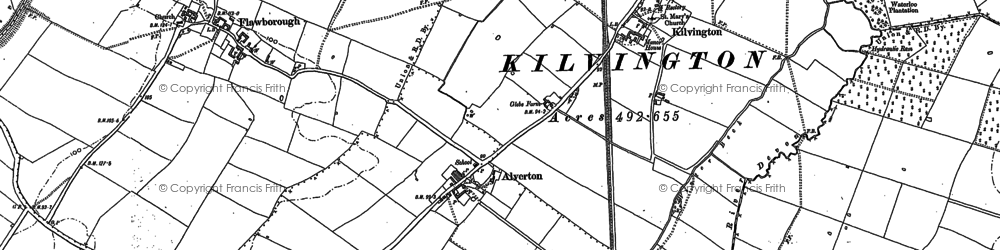 Old map of Alverton in 1887