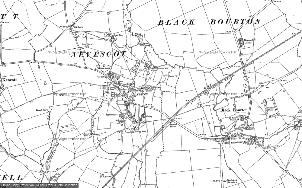 Old Map of Historic Map covering Langhat Ditch in 1898