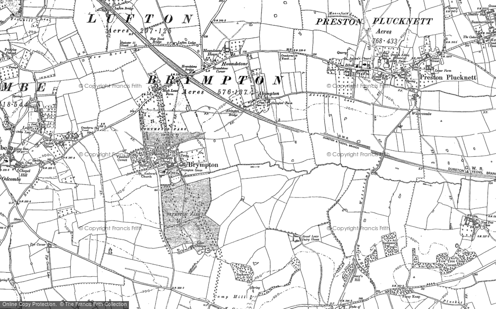 Old Map of Alvington, 1886 - 1901 in 1886
