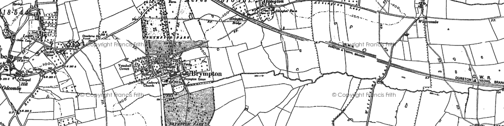 Old map of Alvington in 1886