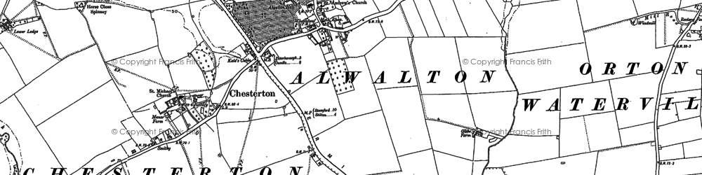 Old map of Alwalton in 1887