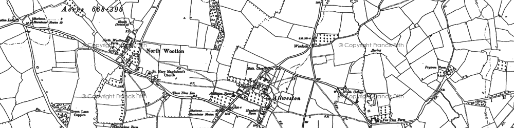 Old map of Alweston in 1886