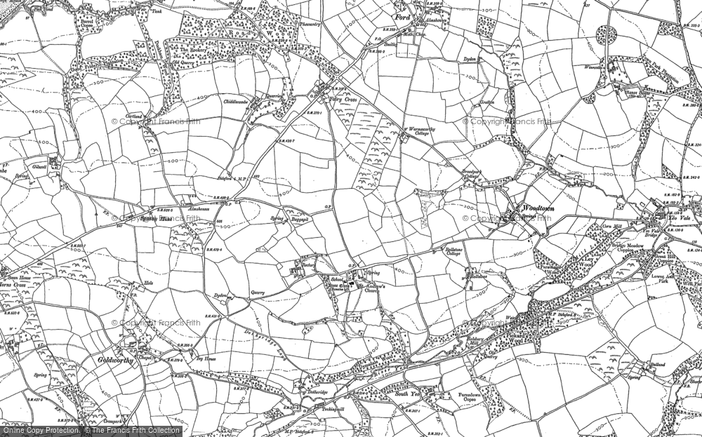 Old Map of Alwington, 1884 - 1904 in 1884