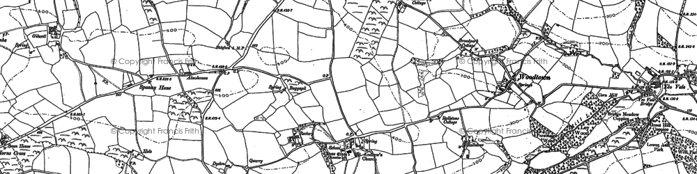 Old map of Alwington in 1884
