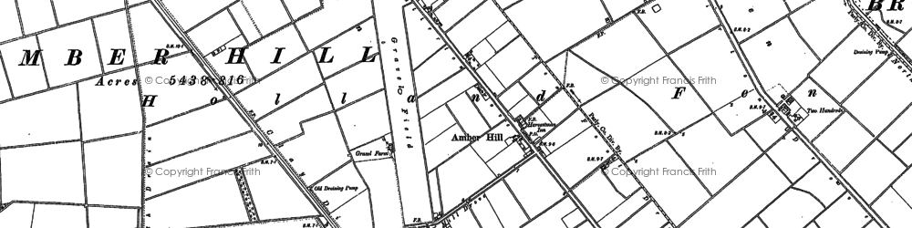 Old map of Algarkirk Fen in 1887
