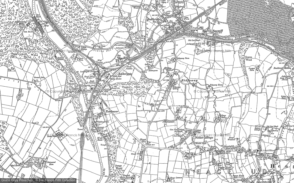 Old Map of Ambergate, 1879 - 1880 in 1879