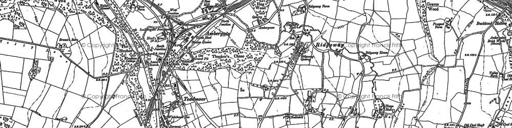Old map of Ambergate in 1879
