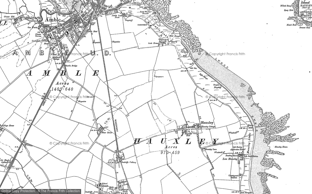 Old Map of Amble, 1896 - 1898 in 1896