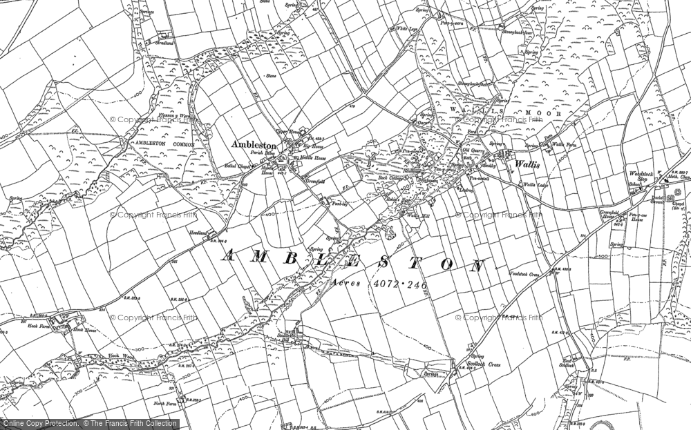 Old Map of Ambleston, 1887 in 1887