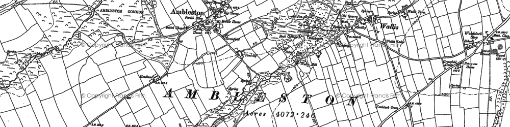 Old map of Ambleston in 1887