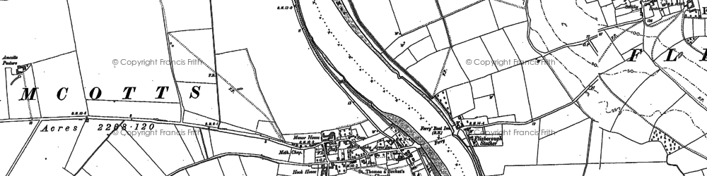 Old map of Amcotts in 1906