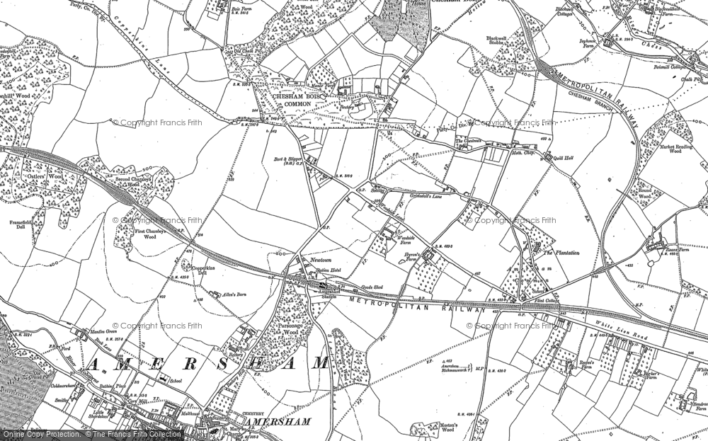 Old Map of Amersham, 1923 in 1923