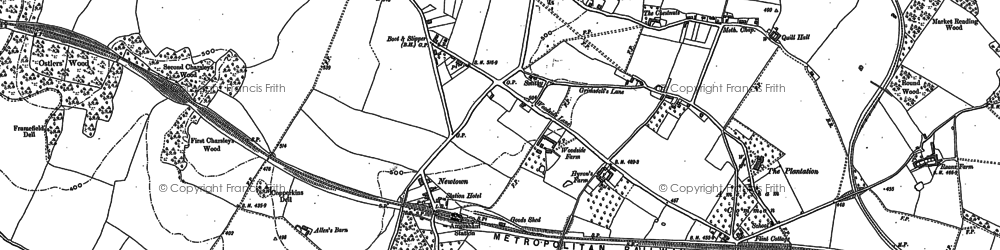 Old map of Amersham on the Hill in 1897