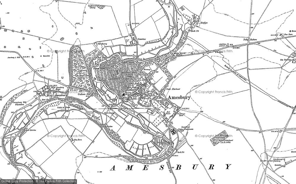 Map of Amesbury, 1889 - 1923