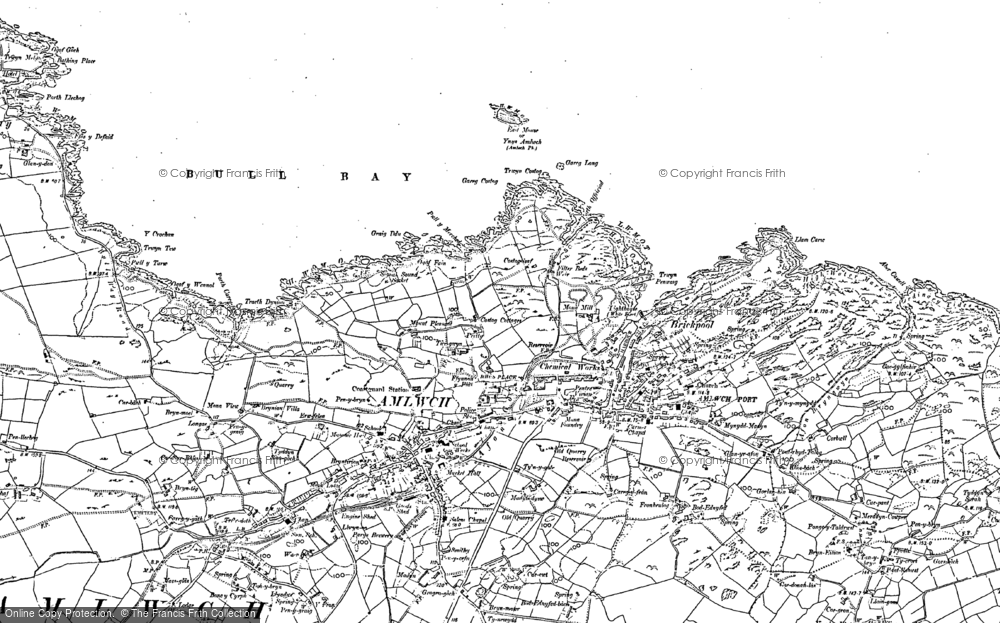 Old Map of Amlwch, 1887 - 1899 in 1887