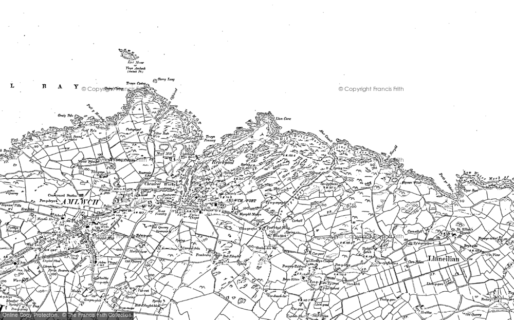 Old Map of Amlwch Port, 1899 in 1899