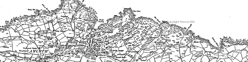 Old map of Amlwch Port in 1899
