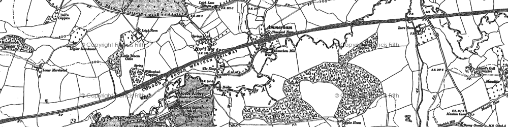 Old map of Ammerham in 1901