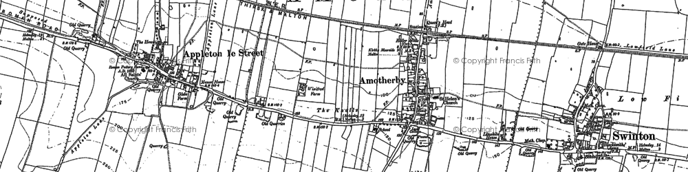Old map of Amotherby in 1889