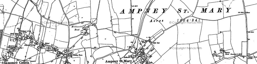 Old map of Ampney St Mary in 1875