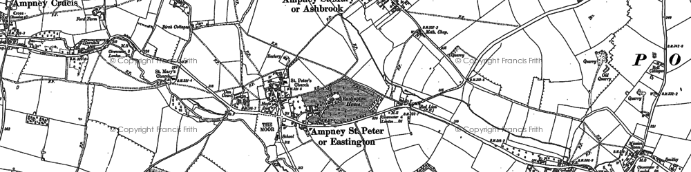 Old map of Ampney St Peter in 1875