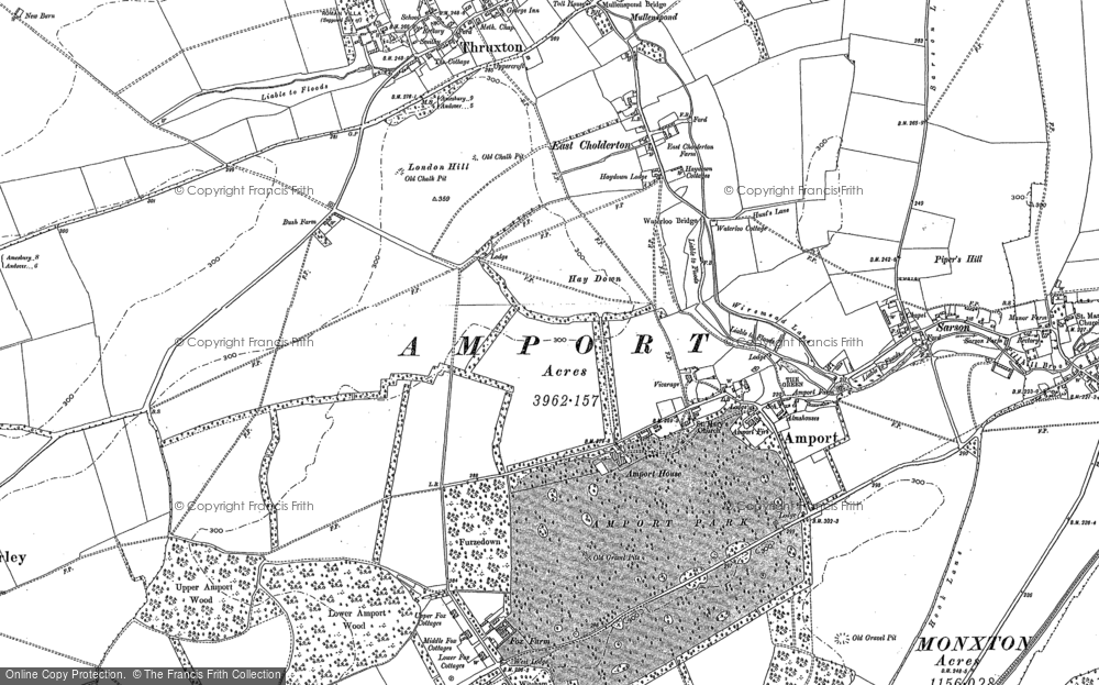 Map of Amport, 1894