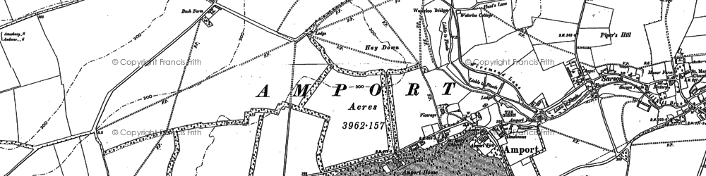 Old map of Amport in 1894