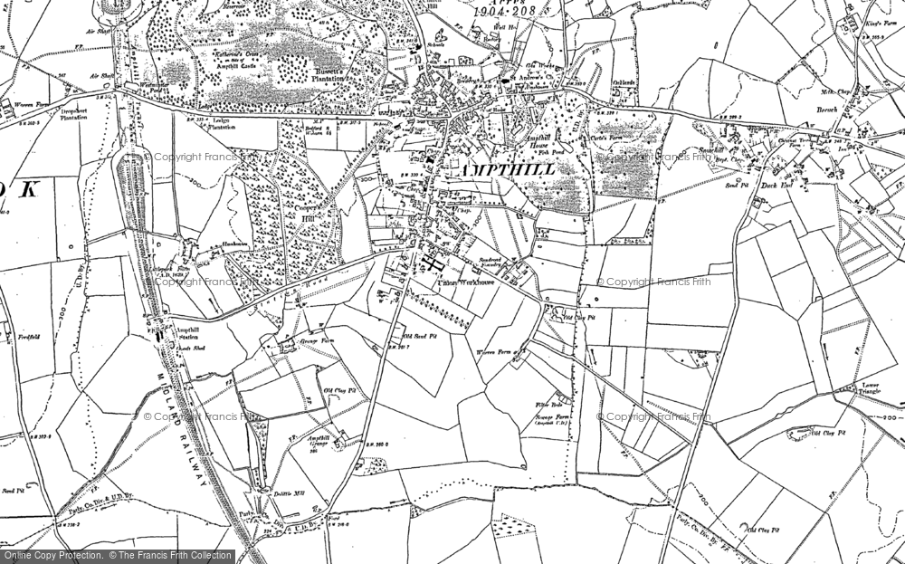 Old Map of Ampthill, 1882 in 1882