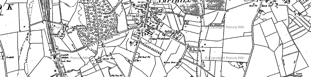 Old map of Ampthill in 1882