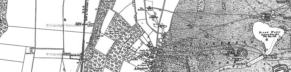 Old map of Ling Covert in 1882