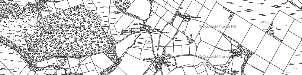 Old map of Y Drain in 1884