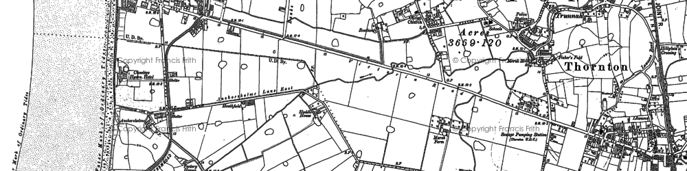 Old map of Anchorsholme in 1910
