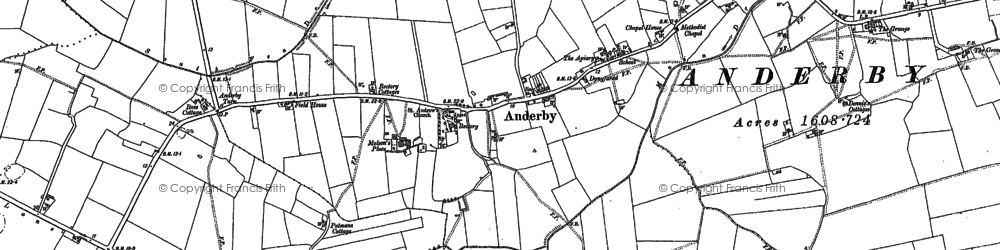 Old map of Anderby in 1905