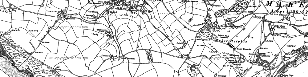 Old map of Anderton in 1886