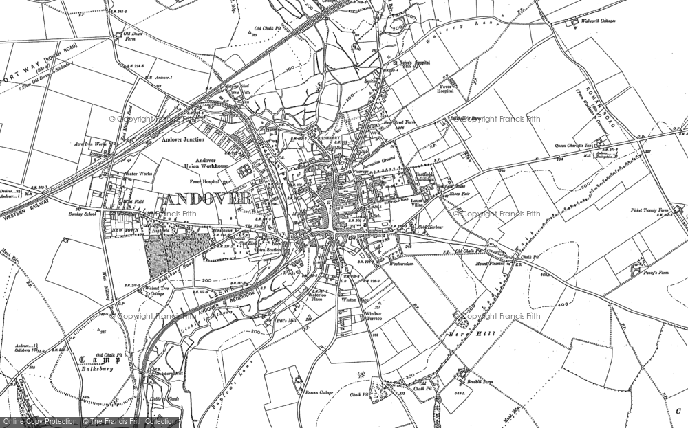 Map of Andover, 1894