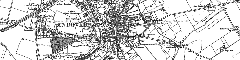 Old map of Andover in 1894