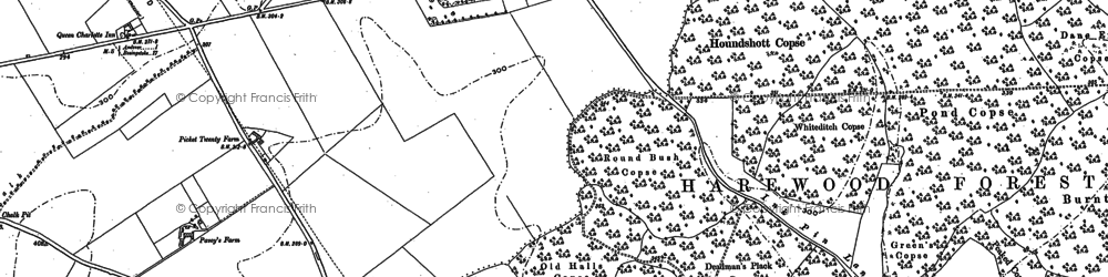 Old map of Augurs Hill Copse in 1894