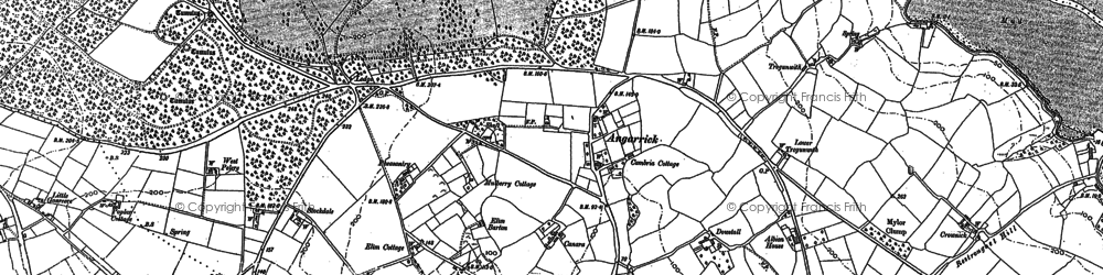 Old map of Angarrick in 1878