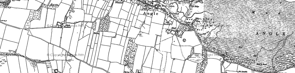 Old map of Angle in 1937