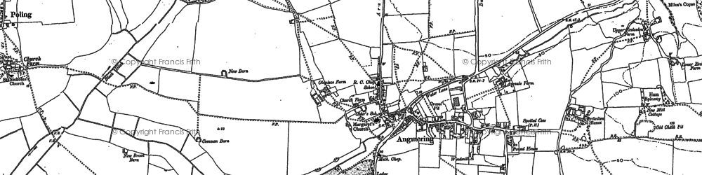 Old map of Angmering in 1896