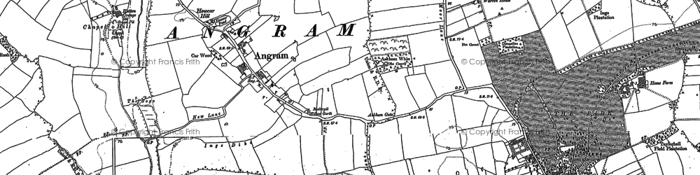Old map of Angram in 1891