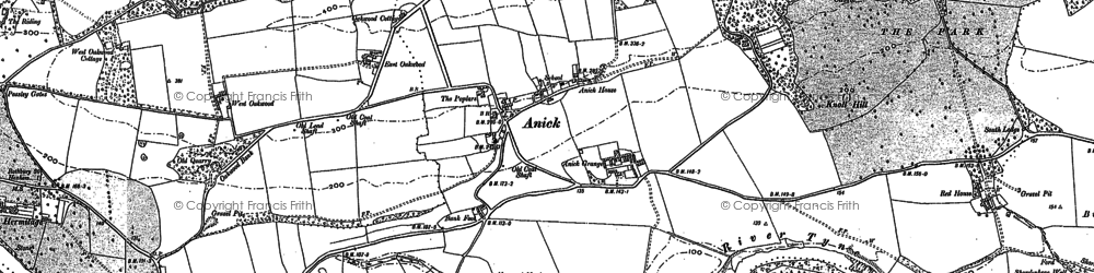 Old map of Wide Haugh in 1895