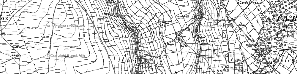 Old map of Ankness in 1889