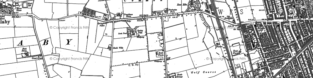 Old map of Anlaby Park in 1888
