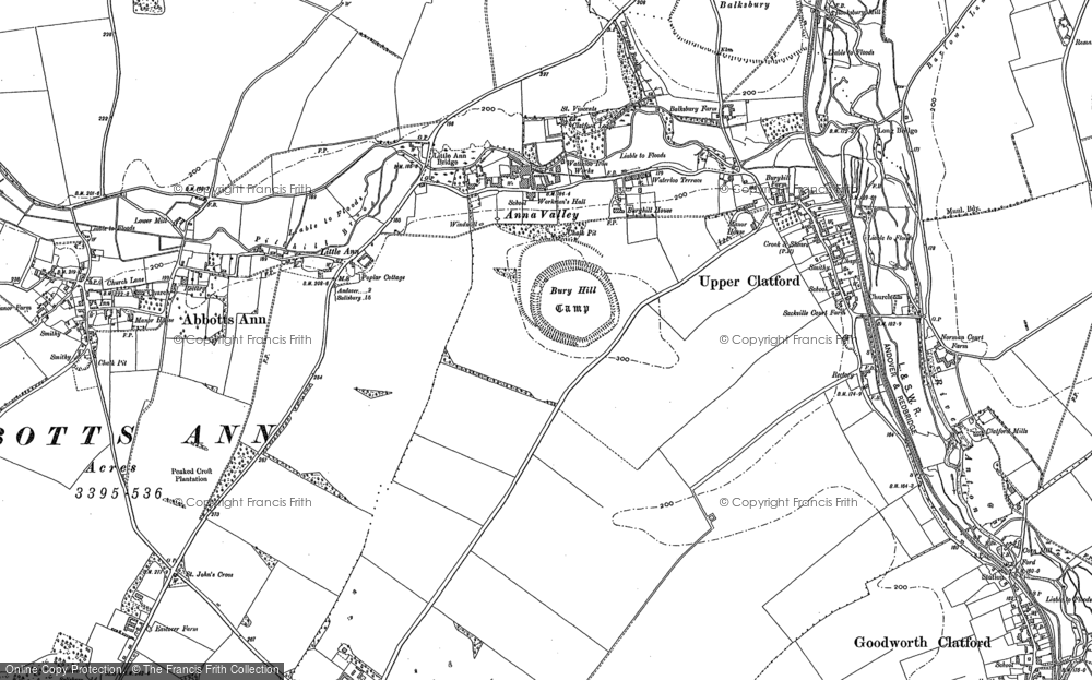 Old Map of Anna Valley, 1894 in 1894