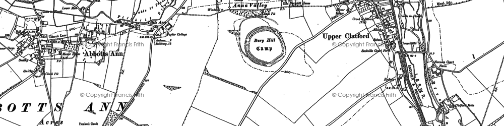 Old map of Anna Valley in 1894