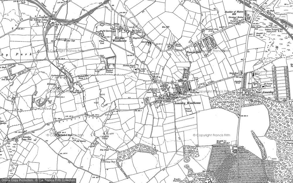 Map of Annesley Woodhouse, 1879