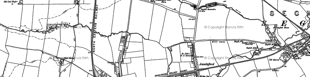 Old map of Annitsford in 1895
